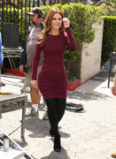 Maria Menounos on the set of Extra at Universal Sudios 04/01/14