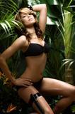 Karima Adebibe   Sexy bikini in a jungle photoshoot 2007
