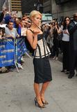 Paris Hilton arrives at The Late Show With David Letterman at Ed Sullivan Theatre in New York