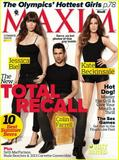 Colin Farrell, Jessica Biel and Kate Beckinsale - Maxim - July August 2012